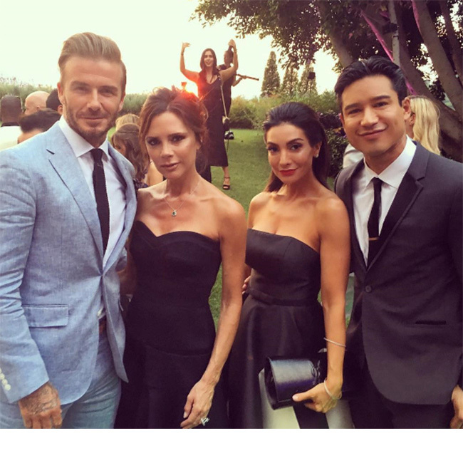 "The TV star described the Beckhams as ""such a cool couple"".