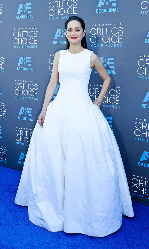 Marion Cotillard could have been the ultimate princess bride in the full-skirted Dior Haute Couture gown she wore to the Critic's Choice Awards.