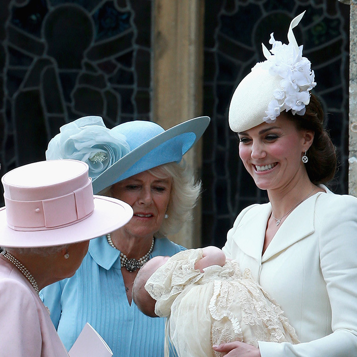 Kate and Charlotte both got the Queen's stamp of approval at the young princess's royal christening. One of Charlotte's middle names in Elizabeth – which honours the Queen, the late Queen mother and Kate's mother Carole (whose middle name is also Elizabeth).