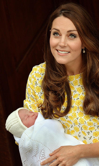 The duchess made her first appearance as a mother of two with Princess Charlotte in her arms. She stood on the steps of St Mary's Hospital just as she had with Prince George, and just as another loving mother – Princess Diana – had done with William and Harry before her.
