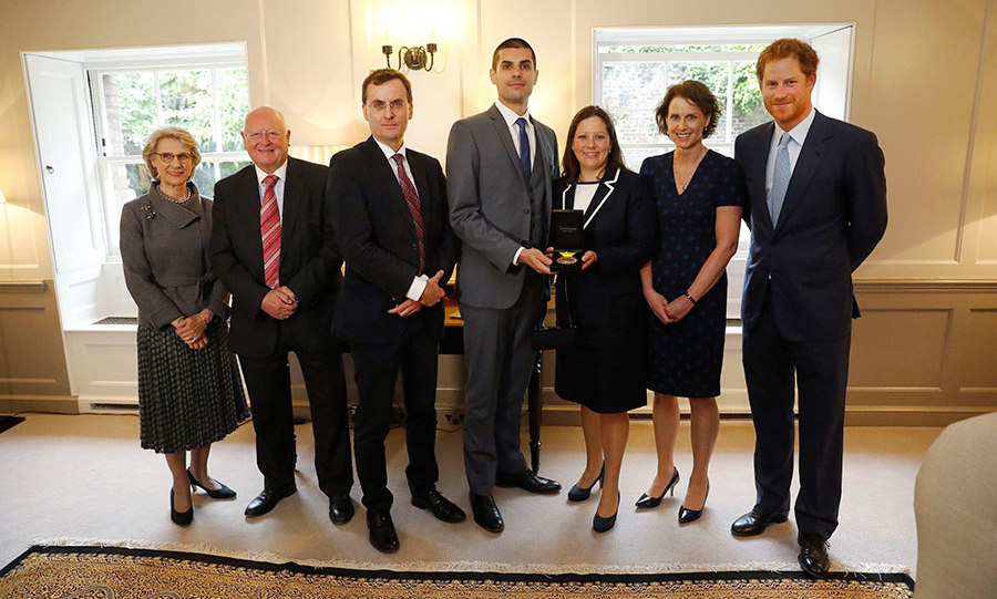 The Prince donated Elizabeth's gold medal as a thank you gesture to the medical team at Papworth Hospital, Cambridge.