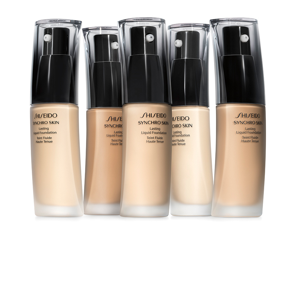 <p><b>Shiseido Synchro Skin Lasting Liquid Foundation, $58, at The Hudson's Bay</b></p>