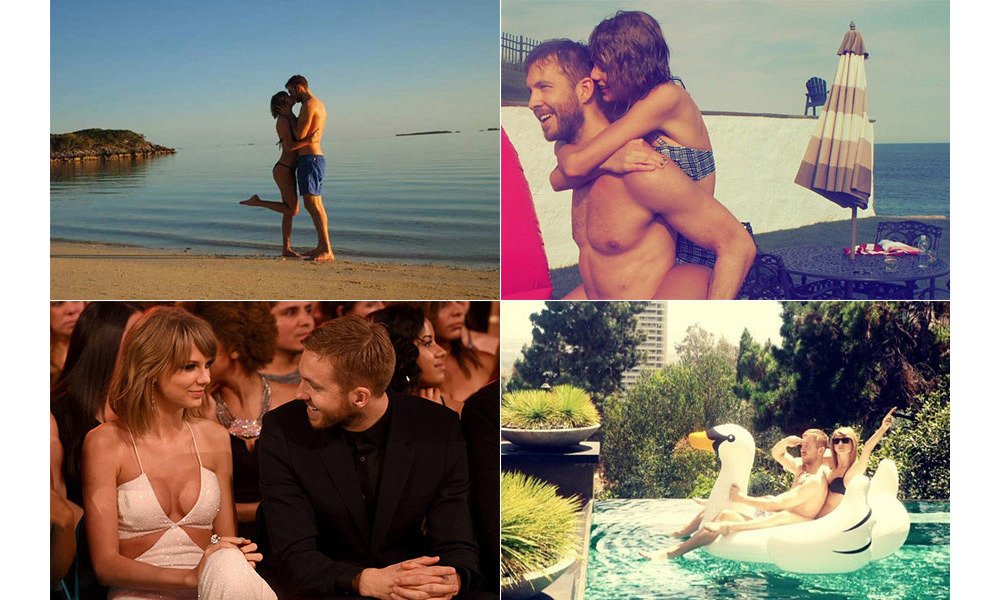 As Taylor Swift and Calvin Harris call time on their 15-month romance, take a look back at their love story in pictures...