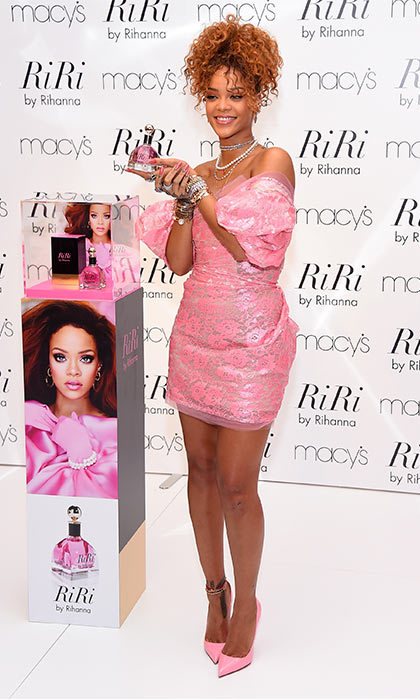 Another perfume launch and Rihanna was pretty in pink. 