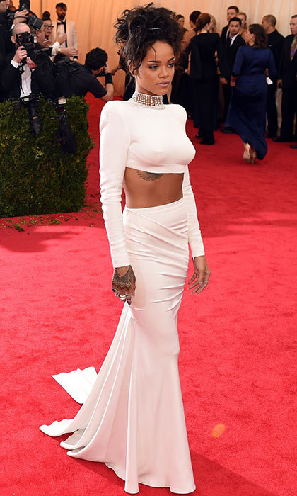 For the 2014 Met Gala, Rihanna kept it classy in white. 