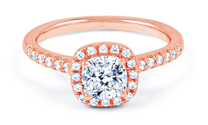 "<strong>Renée Diamond Engagement Ring in Rose Gold</strong>, $4,200, <a href=""http://diamond-boutique.co.uk"" target=""_blank"">diamond-boutique.co.uk</a>"