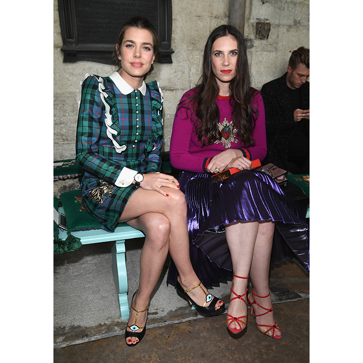 Charlotte Casiraghi and her sister-in-law Tatiana. 