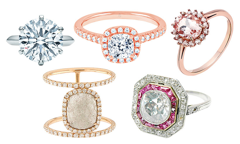 From vintage-inspired to eye-catching hues and timeless solitaires, when it comes to selecting an engagement ring there's never been so much choice! Wondering what bling you want on your ring finger? Here's what the experts are admiring right now...