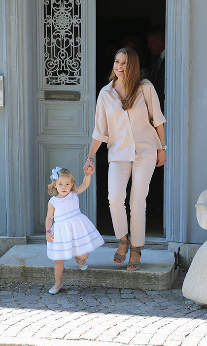 Princess Madeleine of Sweden and Princess Leonore of Sweden