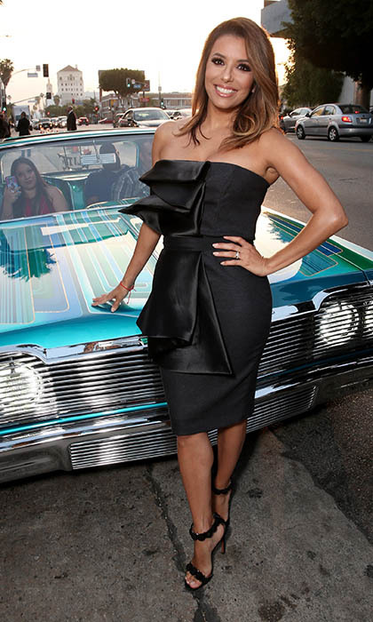 Fresh from her honeymoon, newlywed Eva Longoria attended the premiere of <i>Lowriders</i> on the opening night of the LA Film Festival. 