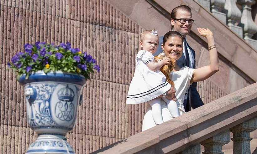 In years past, Crown Princess Victoria, seen here with her husband Prince Daniel and daughter Princess Estelle, has personally welcomed new Swedes at annual citizenship services held throughout the country. 