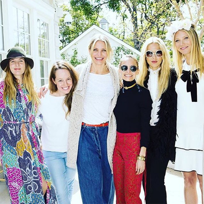 <h2>Cameron Diaz + Drew Barrymore + Gwyneth Paltrow + Nicole Richie</h2>