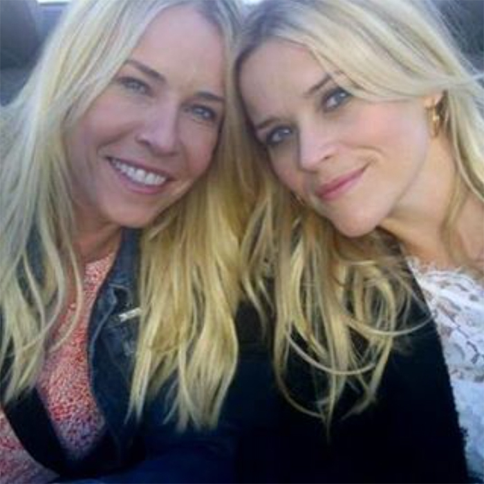 <h2>Reese Witherspoon + Chelsea Handler</h2>