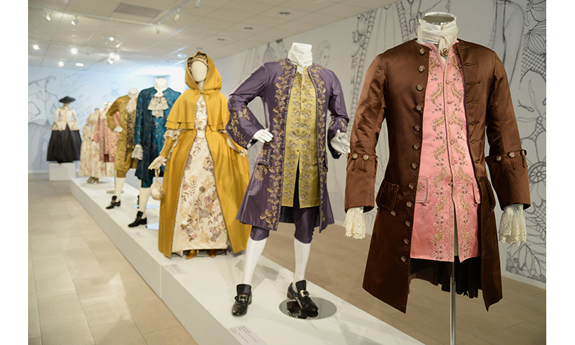 The exhibit highlights the best of 18th-century Parisian fashion.