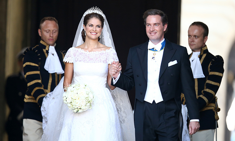 On Jun. 8 2013, Princess Madeleine of Sweden married her prince charming Christopher O'Neill during a romantic ceremony at the Royal Palace chapel in Stockholm. 
