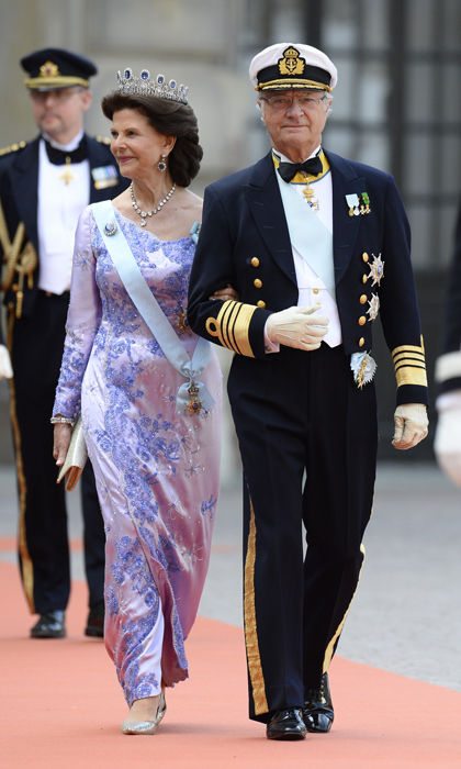 King Carl Gustaf and Queen Silvia looked picture perfect on their son's big day. 