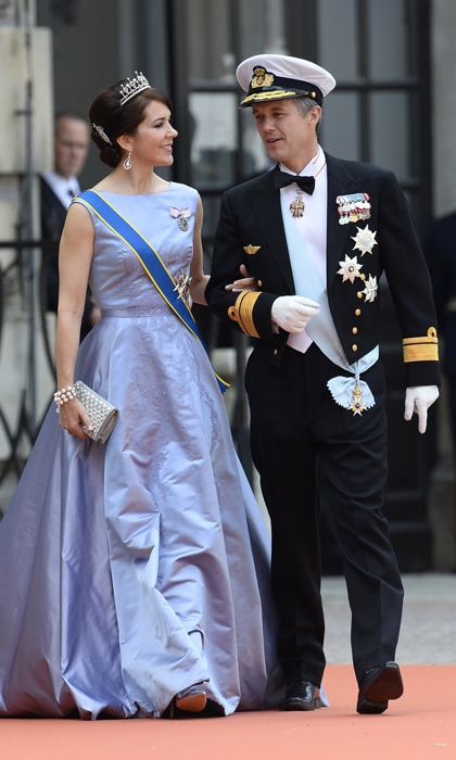 Crown Prince Frederik of Denmark and Princess Mary led the parade of European royals in attendance. 