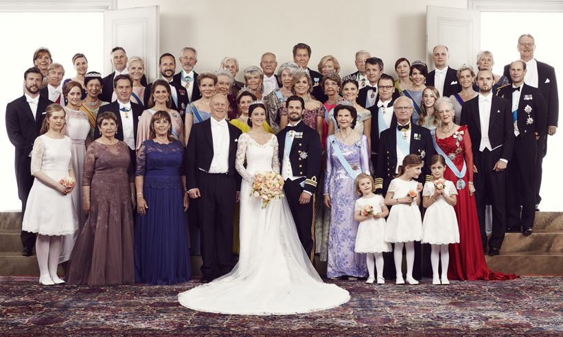 The couple's families gathered for portraits following the service. 