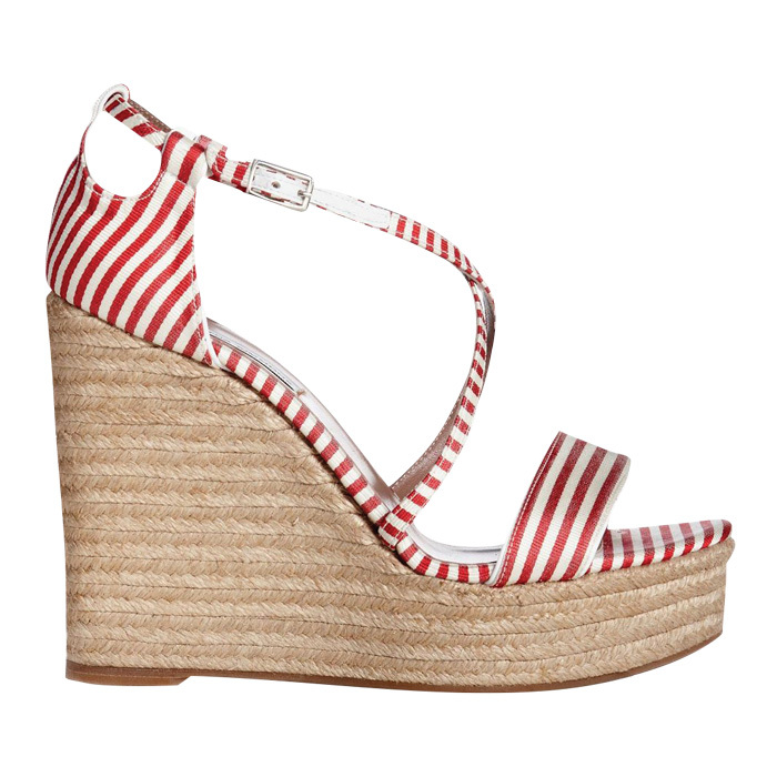 "<strong>Tabitha Simmons Jenny Red/White Espadrille</strong>, $297, <a href=""http://tabithasimmons.com"" target=""_blank"">tabithasimmons.com</a>"