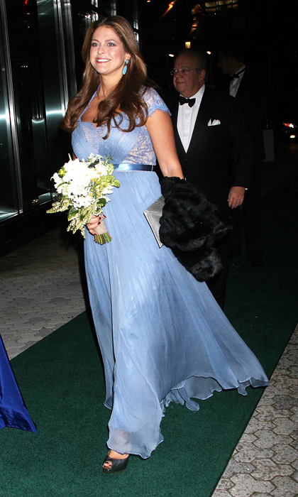 A vision in blue, the sixth in line to the throne donned an airy, lace-trimmed gown at the New York Green Summit and royal gala award dinner in New York in 2013.