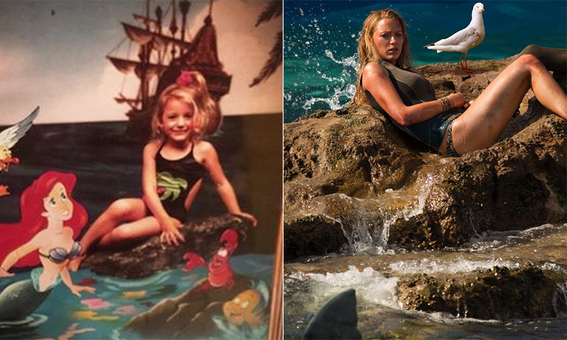 Blake Lively proved she was destined to star in the 2016 thriller <i>The Shallows</i> by posting this adorable throwback snap of herself posing with Ariel from <i>The Little Mermaid</i>. 