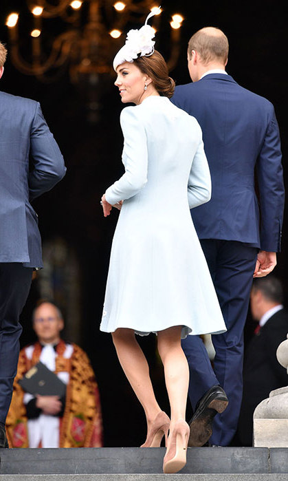 Kate sporting the Catherine Walker creation.