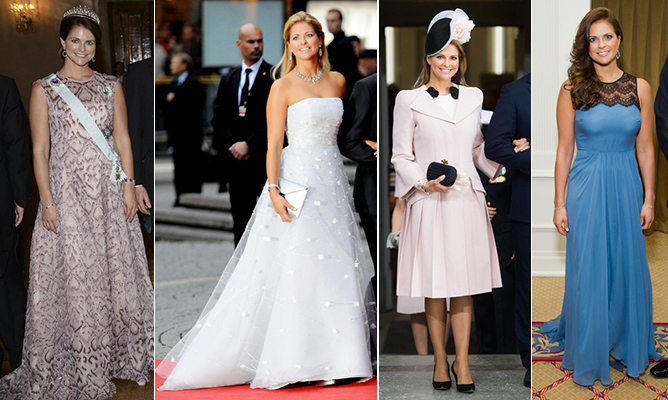 Princess Madeleine is always one to watch on the royal style front, whether she's giving Disney vibes in a frothy confection fit for Cinderella or at the height of a pregnancy looking effortlessly elegant. She's also a fixture at runway shows during fashion month and has been know to favour designers like Chloé, Givenchy and Bottega Veneta. 