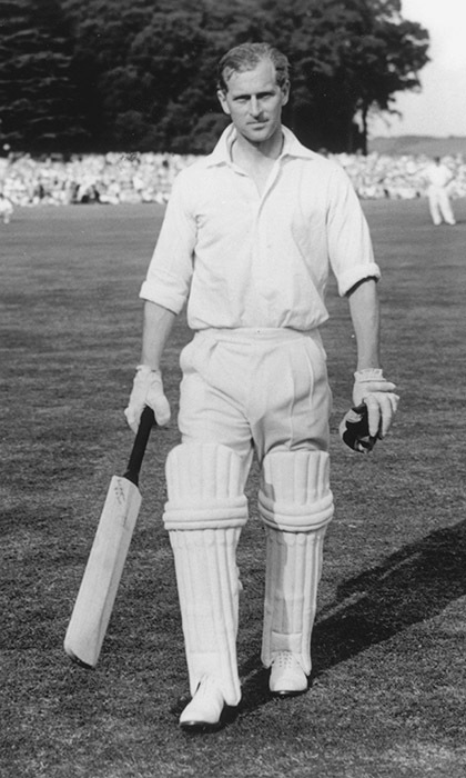 The sporty royal was a regular on the cricket field. In 1953, Philip scored 18 runs during a celebrity match against the Duke of Norfolk held on the grounds near Arundel Castle. 