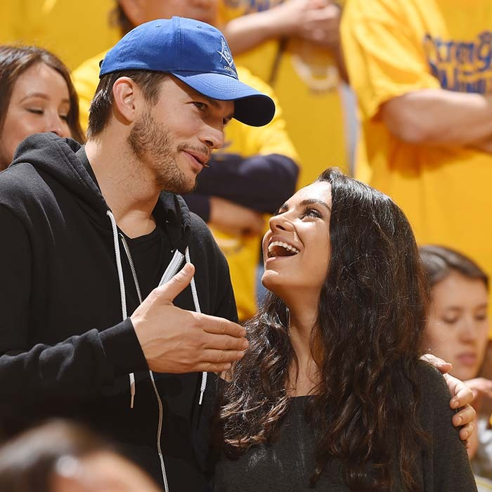 Ashton Kutcher and Mila Kunis left their 20-month-old daughter Wyatt at home to enjoy a date night at game two of the NBA Finals in Oakland. 
