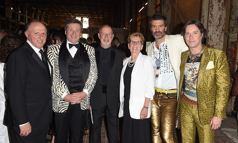Tony Gagliano, John Tory, Anthony Sargent, Kathleen Wynne, Jörn Weisbrodt and Rufus Wainwright