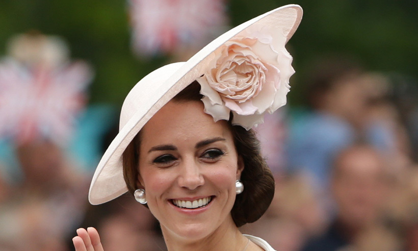 Kate is in bloom wearing pretty Philip Treacy hat at Trooping the Colour 5245d90f635
