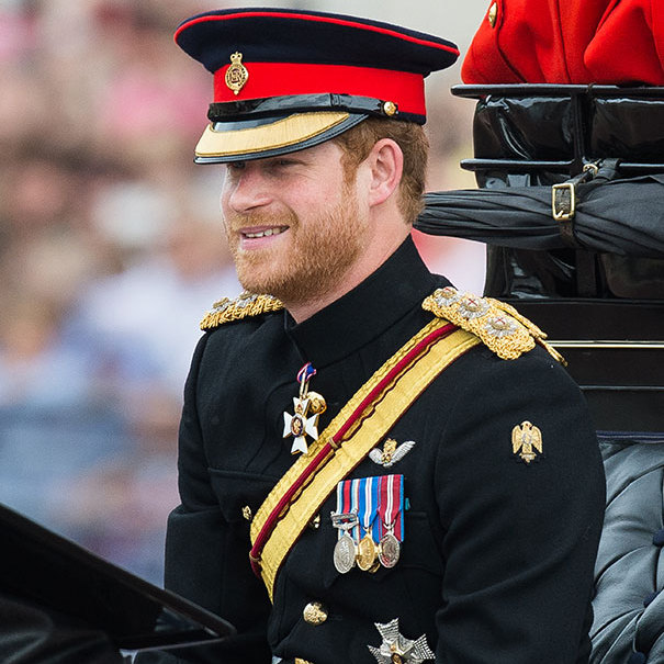 Prince Harry looked resplendent in his Household Cavalry Number 1 ceremonial, with Forage Cap.