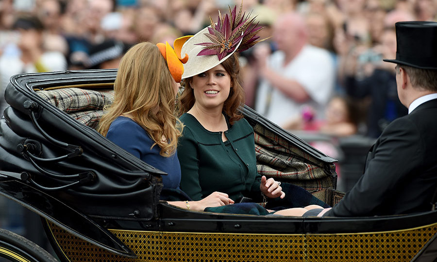 Beatrice and Eugenie joined their father Prince Andrew.