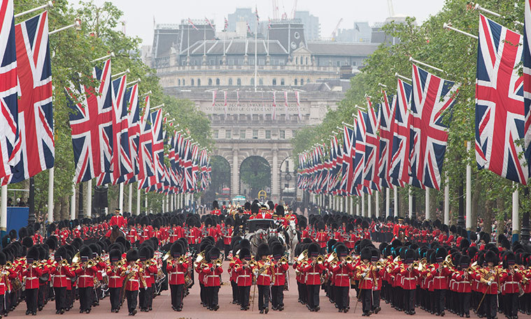 This is the Queen's 64th Trooping the Colour. 
