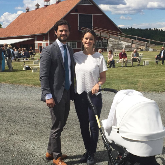 Prince Carl Philip and Princess Sofia are celebrating their first wedding anniversary.