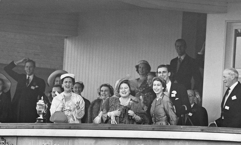 The Queen and the Queen Mother cheered the monarch's horse Choirboy on to victory in the 1953 Royal Hunt Cup race. The family watched the race from the royal box, which was founded in 1807 by King George III.