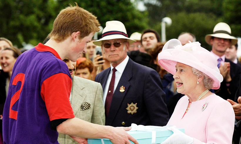 Prince Harry received a special gift from his grandmother after a polo match at Ascot in 2003.