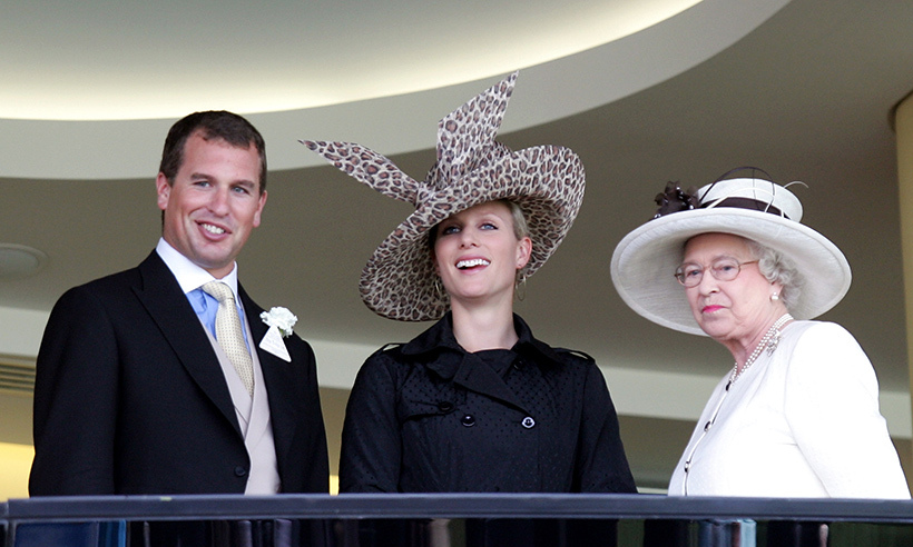 Peter and Zara Phillips joined their grandmother in the royal box in 2007. Equestrian Zara and the Queen have a shared love of horses. 