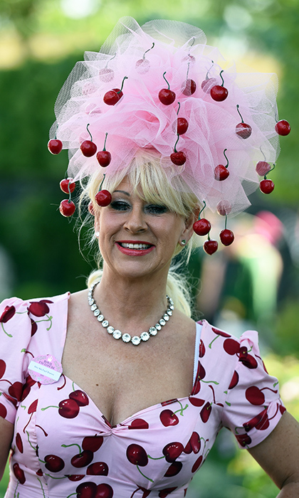 This Ascot attendee was the cherry on top of Ladies Day. 