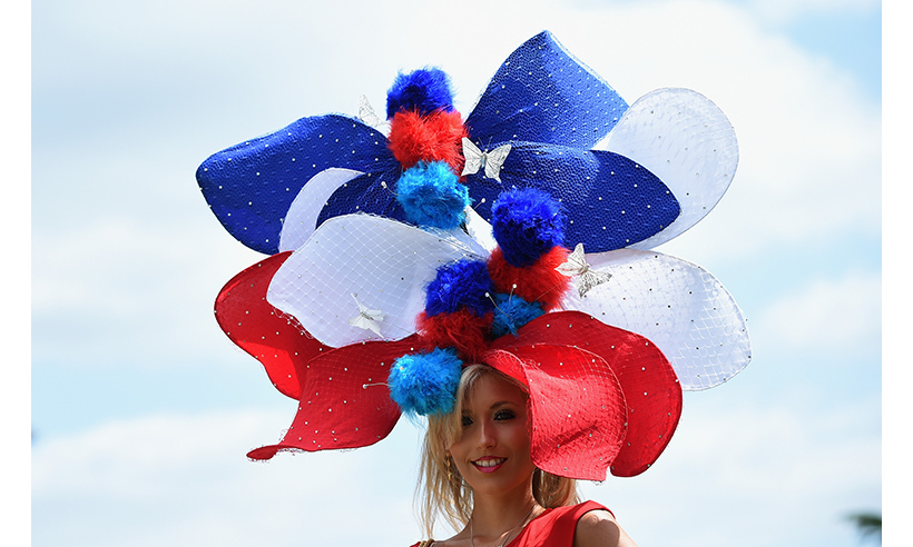 A patriotic racing fan recreated the Union Jack with this colourful topper. 