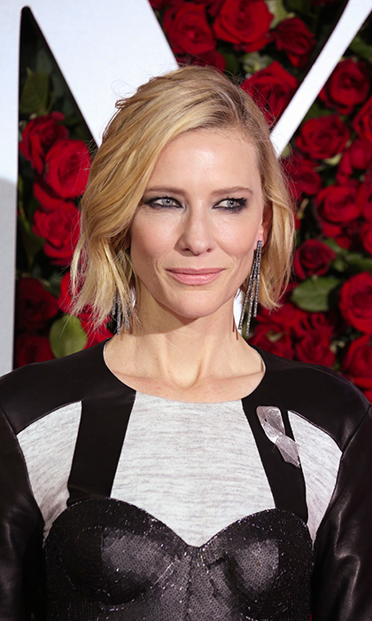 Celebrities like Cate Blanchett wore silver ribbons in honour of the victims at the 2016 Tony Awards in New York.