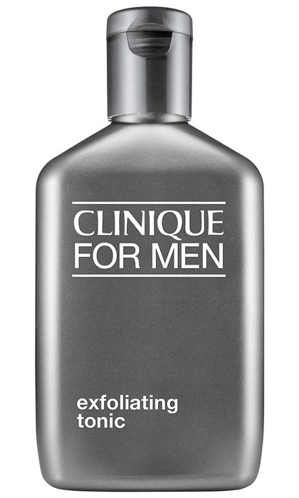"<strong>Clinique For Men Exfoliating Tonic</strong>, $19, <a href=""http://clinique.ca"" target=""_blank"">clinique.ca</a>"