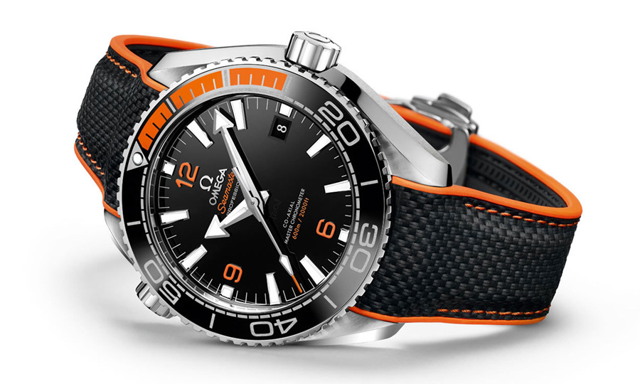 "<strong>Seamaster Planet Ocean Master Chronometer Collection</strong>, $7,700, <a href=""http://omegawatches.com"" target=""_blank"">omegawatches.com</a>"