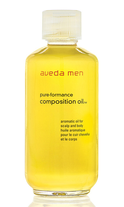 "<strong>Aveda Men Pure-Formance Composition Oil</strong>, $30, <a href=""http://aveda.com"" target=""_blank"">aveda.com</a>"
