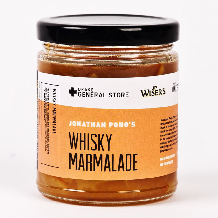 "<strong>JP Wiser's X Drake Whisky Marmalade</strong>, $14, <a href=""http://thedrakegeneralstore.ca"" target=""_blank"">thedrakegeneralstore.ca</a>"