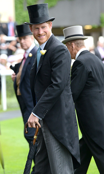 Prince Harry was in top form on the opening day of Ascot. 
