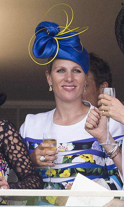 Zara Tindall showed off her elaborate topper in the royal box. 