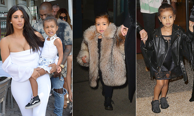 With a fashion icon for a mom and dad Kanye West's designer friends clamouring to dress her, Kim Kardashian's daughter North West was destined for style stardom. The adorable four-year-old is known to rock custom duds (including Balmain jackets) and has taken to fashion's timeliest trends (think boxer braids and choker necklaces). 