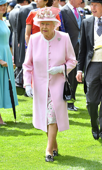 The Queen on Day 2.