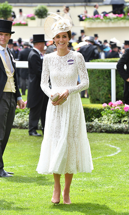 The Duchess of Cambridge wore a Dolce & Gabbana dress on Day 2.